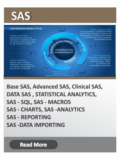 SAS (Base/ Advanced) course